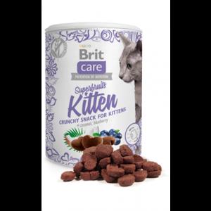 Brit Care Cat Snack Superfruits Kitten 100 гр - хрупкав снакс за котенца от 6 седмица с пилешко
