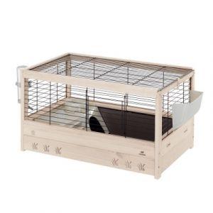 Kлетка за зайци оборудвана дървена Ferplast Cage Arena 80 Black