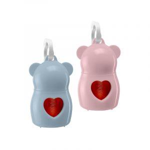DUDU CLASSIC PUPPY - Диспенсър с торбички за фекалии Розов