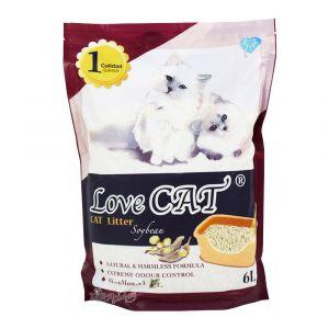 Cat Litter LOVE CAT Soybean - Котешка тоалетна с аромат на соя - 6 литра
