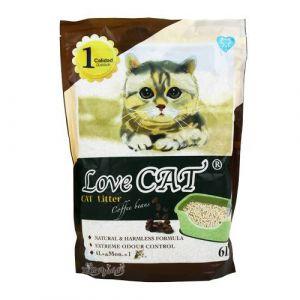 Cat Litter LOVE CAT Coffee Beans - Котешка тоалетна с аромат на кафе - 6 литра