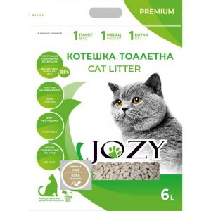 Котешка тоалетна JOZY ТОФУ, 6 литра - 2,5кг, с аромат на соя