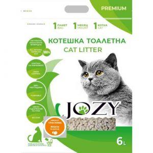 Котешка тоалетна JOZY ТОФУ, 6 литра - 2,5кг, с аромат на праскова