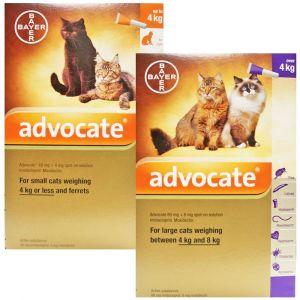 Bayer Advocate Cat лекарство за външно и вътрешно обезпаразитяване на котка