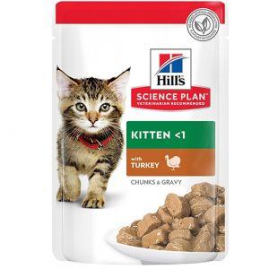 Hill's Science Plan Kitten Turkey пауч за коте с пуйка 12 бр. x 85 гр.
