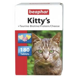 Beaphar Kittis Mix Taurine + Biotine - витаминен котешки микс - 180 бр.