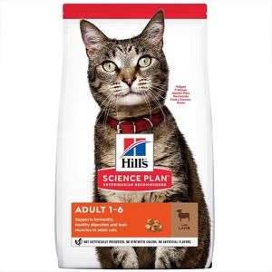 Hill's Science Plan Feline Adult Lamb - храна за котки от 1 до 7 год. с агнешко - 1.5 kg