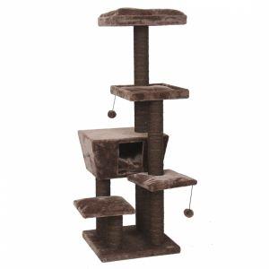 EBI Dakota Brown - Котешка катерушка, кафява, 48x48x141 см