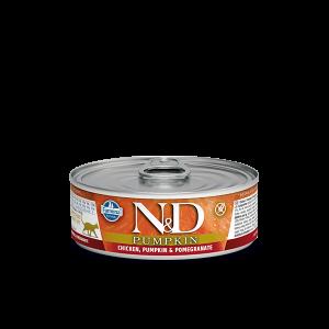 N&D Cat Pumpkin - консерва с пилешко, нар и тиква -  80 гр.