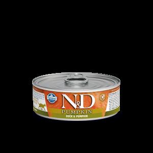 N&D Cat Pumpkin - консерва с патешко и тиква -  80 гр.