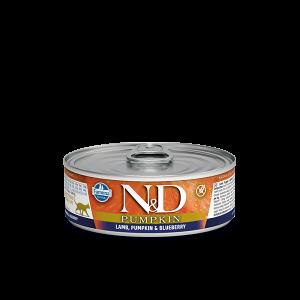 N&D Cat Pumpkin - консерва с агнешко, боровинки и тиква -  80 гр.