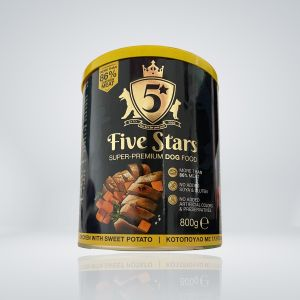5 Stars Super premium dog food с Пиле и сладък картоф, консерва 800 гр