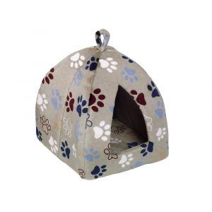 Nobby Cave Classic LISSI - легло - хралупа за котки, бежово с лапички