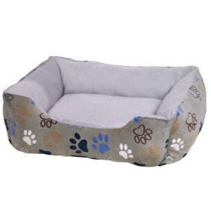 Nobby Comfort bed square Classic LISSI - меко легло за кучета, бежово с лапички