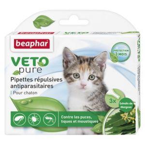 Beaphar Veto Pure Bio Spot On Kitten - репелентни капки за малки котета - 3 пипети