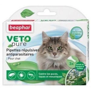Beaphar Veto Pure Bio Spot On Cat - репелентни капки за котка - 3 пипети