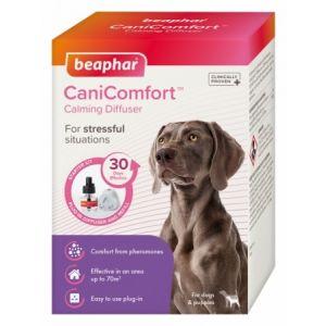 Beaphar Cani Comfort Calming Diffuser - успокояващ дифузер с феромони за кучета + спрей с феромони, 48 мл