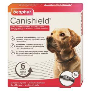 Beaphar Cani Shield - противопаразитен нашийник за кучета против кърлежи, бълхи и пясъчни мухи