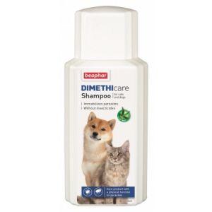 Beaphar Dimethicare Shampoo - Шампоан за куче и коте против бълхи, кърлежи, комари, пясъчни мухи и други 200ml