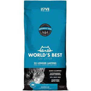 Worlds Best Cat Litter Multiple Cat Lotus Blossom - котешка постелка от пълнозърнеста царевица с аромат на цвят от лотос, биоразградима