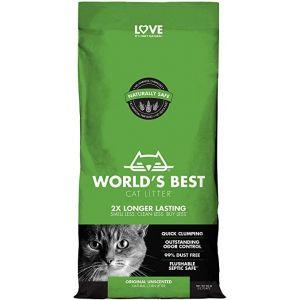 Worlds Best Cat Litter Original Unscented - котешка постелка от пълнозърнеста царевица, биоразградима, без добавен аромат