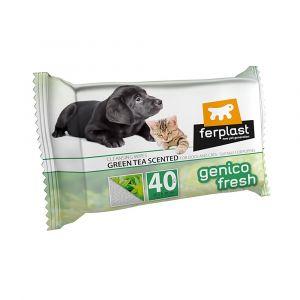 GENICO FRESH dog/cat  green tea (x 40) - почистващи кърпички за кучета и котки с аромат на зелен чай 40 бр. в пакет 30x20cm