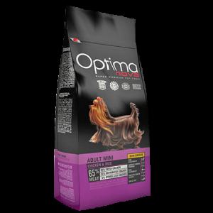 OPTIMA NOVA ADULT MINI CHICKEN & RICE -  Пълноценна храна без глутен за кучета от дребните породи над 12 месеца, пиле с ориз