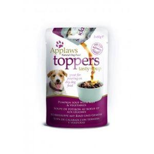 Applaws Dog Toppers Pumpkin Soup with Beef and Vegetables 3 x 60g - Овкусител за кучета - Супа от тиква с телешко и зеленчуци, пауч