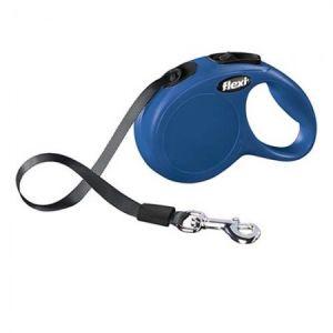 Flexi Classic M \ L автоматичен повод за кучета - лента 5 м, синьо