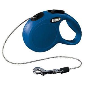 Flexi Classic M автоматичен повод за кучета - въже 8 м, синьо