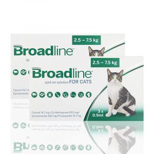 Broadline Cat Large - обезпаразитяване за котки от 2,5 - 7,5кг. - КУТИЯ