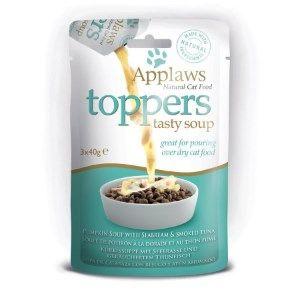 Applaws Cat Toppers Fish Soup 3 x 40g - Овкусител за котки - Рибена супа, пауч