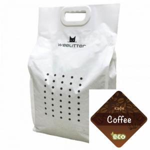 WeeLitter Cofee - Натурална, биоразградима соева котешка тоалетна, аромат кафе