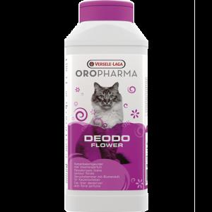 OROPHARMA DEODO FLOWER 750 g - деозодорант на прах за котешка тоалетна със свеж аромат на цветя