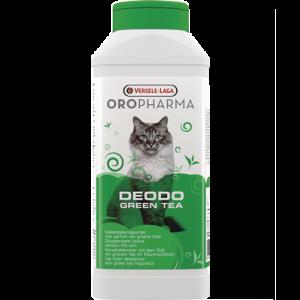 OROPHARMA DEODO GREEN TEA 750 g - деозодорант на прах за котешка тоалетна с аромат на зелен чай