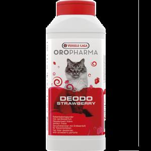 OROPHARMA DEODO STRAWBERRY 750 g - деозодорант на прах за котешка тоалетна с аромат на ягода