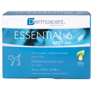 Dermoscent Essential 6 Spot-on Cats - 4 пипети в кутия