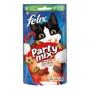 Felix Party Mix - Grill mix - лакомство за котки - Грил Микс 60 гр