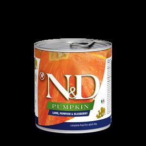 N&D DOG LAMB &PUMPKIN& BLUEBERRY 285 гр – за кучета над 1 година, с агне, тиква и боровинки