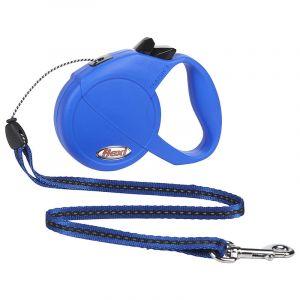 Flexi Classic M автоматичен повод за кучета - въже 5 м, синьо