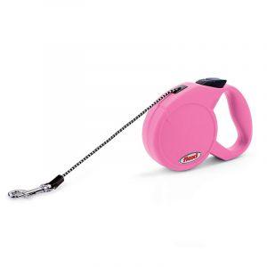 Flexi Classic M автоматичен повод за кучета - въже 5 м, розов
