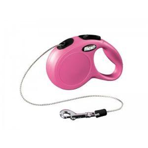 Flexi Classic M автоматичен повод за кучета - въже 8 м, розов