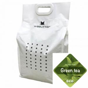 WeeLitter Green Tea - Натурална, биоразградима соева котешка тоалетна, аромат зелен чай