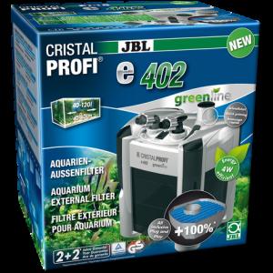 JBL CristalProfi e402 greenline - Енергоспестяващ външен филтър за аквариуми от 40л до 120 л или 40 до 80см дължина