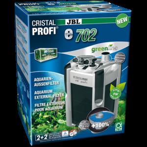 JBL CristalProfi e702 greenline - Енергоспестяващ външен филтър за аквариуми от 60л до 200 л или 60 до 100 см дължина