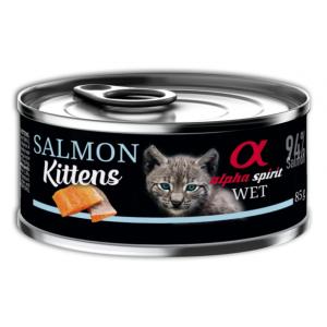 Alpha Spirit  Kitten Salmon 85 g -  за подрастващи котенца със сьомга