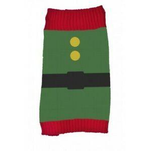 Pet Brands - Коледен пуловер за кучета - елф - зелен - 35 см