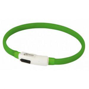 Kerbl LED Collar Maxi Safe - Светещ нашийник с USB зареждане, зелен - 35см