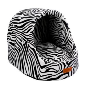 Dubex MINI CAVE Medium Зебра  - Меко легло - 50 x 47 x 43 см