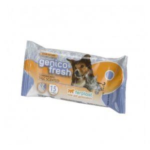 GENICO FRESH dog/cat  talk (x 40) - почистващи кърпички за кучета и котки с аромат на талк 40 бр. в пакет 30x20cm